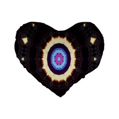 Mandala Art Design Pattern Ornament Flower Floral Standard 16  Premium Heart Shape Cushions