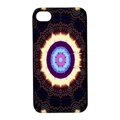 Mandala Art Design Pattern Ornament Flower Floral Apple Iphone 4/4s Hardshell Case With Stand