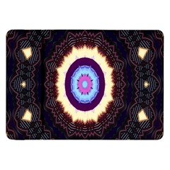 Mandala Art Design Pattern Ornament Flower Floral Samsung Galaxy Tab 8 9  P7300 Flip Case