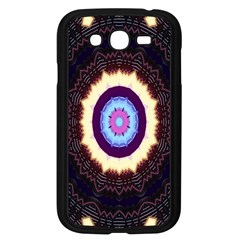 Mandala Art Design Pattern Ornament Flower Floral Samsung Galaxy Grand Duos I9082 Case (black)