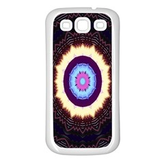 Mandala Art Design Pattern Ornament Flower Floral Samsung Galaxy S3 Back Case (white)