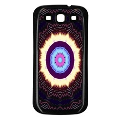 Mandala Art Design Pattern Ornament Flower Floral Samsung Galaxy S3 Back Case (black)
