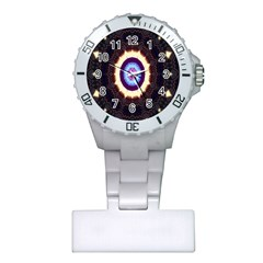 Mandala Art Design Pattern Ornament Flower Floral Plastic Nurses Watch