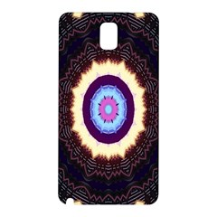 Mandala Art Design Pattern Ornament Flower Floral Samsung Galaxy Note 3 N9005 Hardshell Back Case
