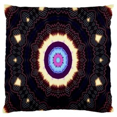 Mandala Art Design Pattern Ornament Flower Floral Standard Flano Cushion Case (two Sides)
