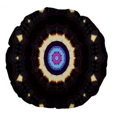 Mandala Art Design Pattern Ornament Flower Floral Large 18  Premium Flano Round Cushions