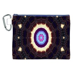 Mandala Art Design Pattern Ornament Flower Floral Canvas Cosmetic Bag (xxl)