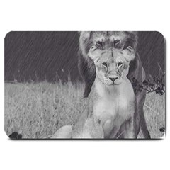 King And Queen Of The Jungle Design  Large Doormat
