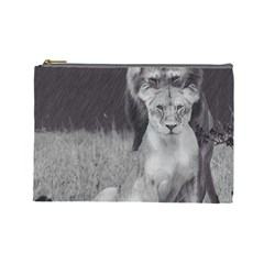King And Queen Of The Jungle Design  Cosmetic Bag (large)
