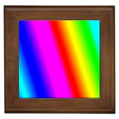 Multi Color Rainbow Background Framed Tiles