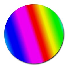 Multi Color Rainbow Background Round Mousepads