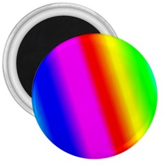 Multi Color Rainbow Background 3  Magnets