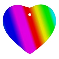 Multi Color Rainbow Background Ornament (Heart)