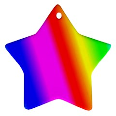 Multi Color Rainbow Background Ornament (star)