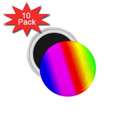 Multi Color Rainbow Background 1 75  Magnets (10 Pack)