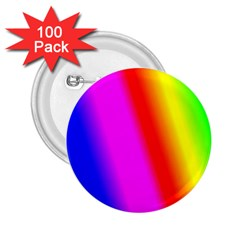 Multi Color Rainbow Background 2 25  Buttons (100 Pack)