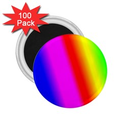 Multi Color Rainbow Background 2 25  Magnets (100 Pack)