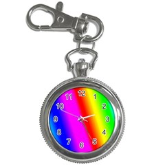 Multi Color Rainbow Background Key Chain Watches