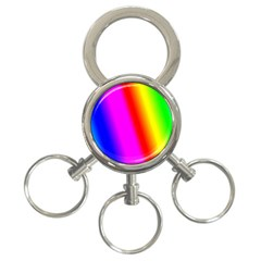 Multi Color Rainbow Background 3-Ring Key Chains