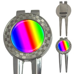 Multi Color Rainbow Background 3 In 1 Golf Divots