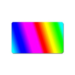 Multi Color Rainbow Background Magnet (name Card)