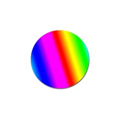 Multi Color Rainbow Background Golf Ball Marker (10 Pack)