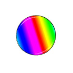 Multi Color Rainbow Background Hat Clip Ball Marker (10 Pack)