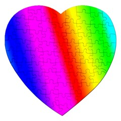 Multi Color Rainbow Background Jigsaw Puzzle (heart)