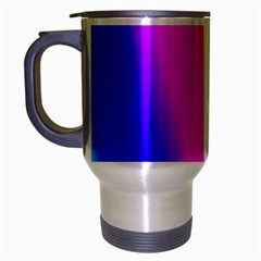Multi Color Rainbow Background Travel Mug (silver Gray)