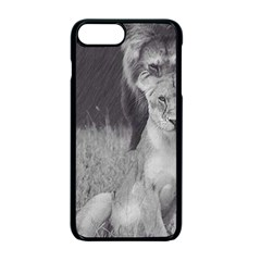 King and Queen of the jungle design  Apple iPhone 7 Plus Seamless Case (Black)