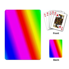 Multi Color Rainbow Background Playing Card