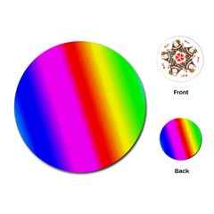 Multi Color Rainbow Background Playing Cards (round)