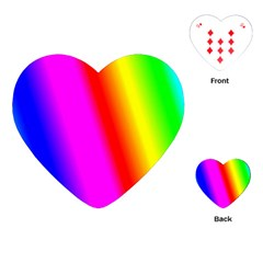 Multi Color Rainbow Background Playing Cards (heart)