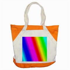Multi Color Rainbow Background Accent Tote Bag