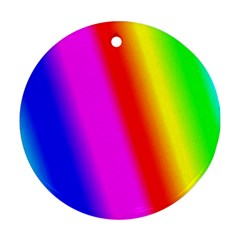 Multi Color Rainbow Background Round Ornament (two Sides)
