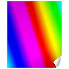 Multi Color Rainbow Background Canvas 16  X 20