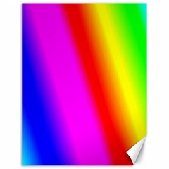 Multi Color Rainbow Background Canvas 18  X 24