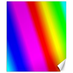 Multi Color Rainbow Background Canvas 20  X 24