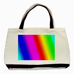 Multi Color Rainbow Background Basic Tote Bag (Two Sides)