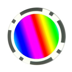 Multi Color Rainbow Background Poker Chip Card Guard