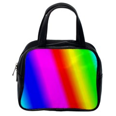 Multi Color Rainbow Background Classic Handbags (one Side)