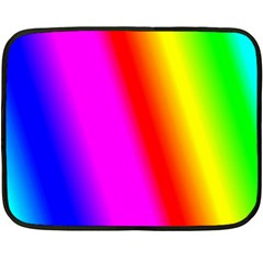Multi Color Rainbow Background Double Sided Fleece Blanket (mini)