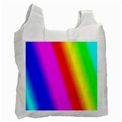 Multi Color Rainbow Background Recycle Bag (One Side)