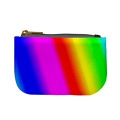 Multi Color Rainbow Background Mini Coin Purses