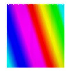 Multi Color Rainbow Background Shower Curtain 66  X 72  (large)