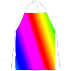 Multi Color Rainbow Background Full Print Aprons