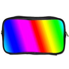 Multi Color Rainbow Background Toiletries Bags 2 Side