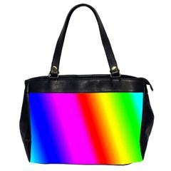 Multi Color Rainbow Background Office Handbags (2 Sides)