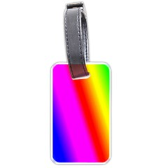 Multi Color Rainbow Background Luggage Tags (two Sides)