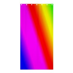 Multi Color Rainbow Background Shower Curtain 36  X 72  (stall)